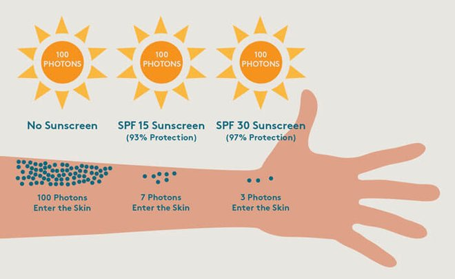 SPF, or sun protection factor, tells you how effective the product is at protecting you from UVB rays.