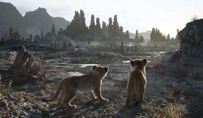 Young Simba and Nala enter scary badlands