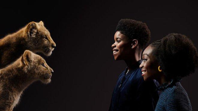 JD and Shahadi with Young Simba and Nala