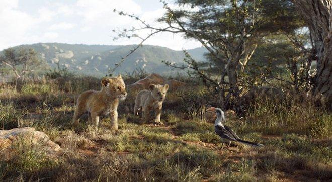 Young Simba and Nala meet Zazu
