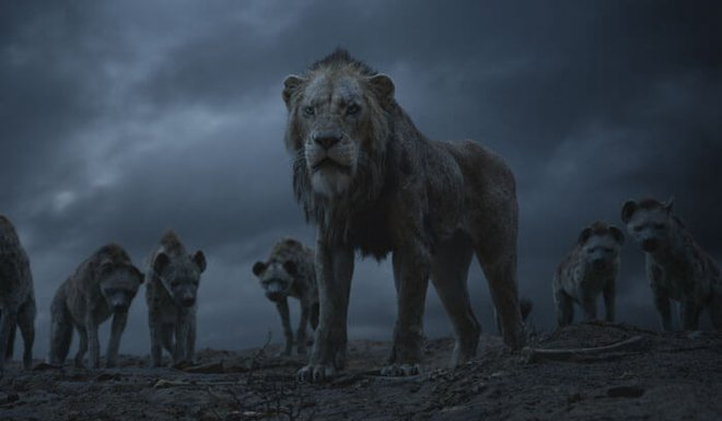 Scar with his evil hyena minions