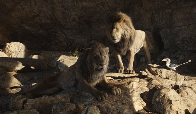 Mufasa confronts Scar