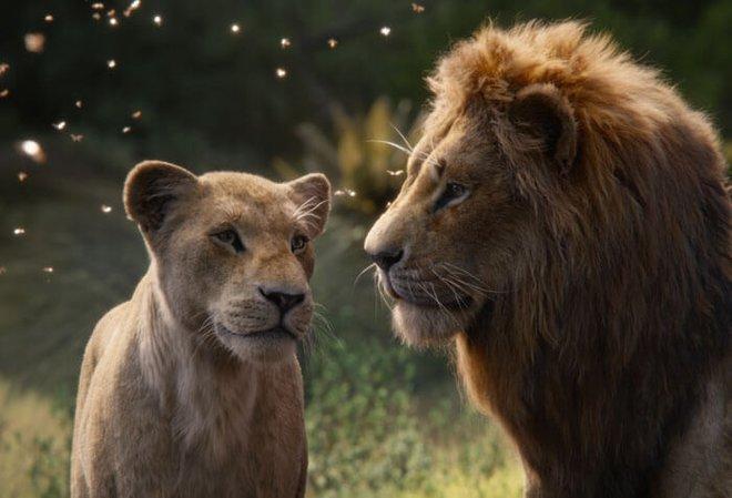 Nala and Simba are reunited