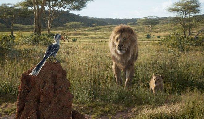 Mufasa shows Simba the Pride Lands
