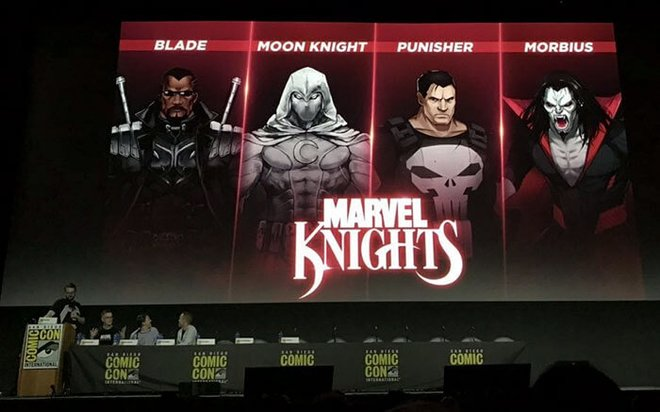 The Marvel Knights character pack being unveiled during San Diego Comic-Con