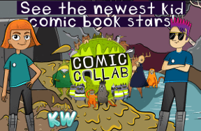 Saving Slimetown - the comic made by kids - see their artwork, ideas and the two lucky stars of this week's episode!