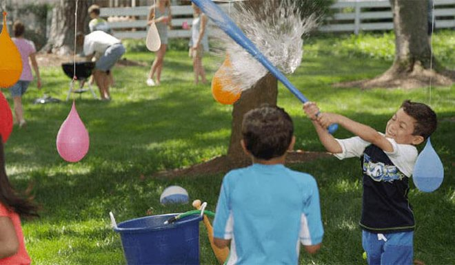 Break a water pinata to cool off when it's hot out.