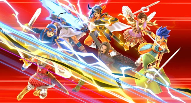 Hero's final smash brings in heroes from across the Dragon Quest series.