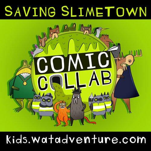 Saving Slimetown episode 1 launches on Kidzworld on Friday 21 June