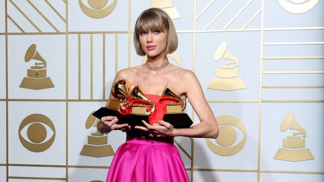 Taylor at the 2016 Grammy Awards