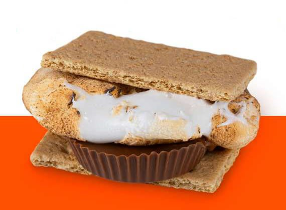 Adding Reeses to your s'more brings the taste to a whole new level!  No Reeses on-hand?  Try adding any candy bar!